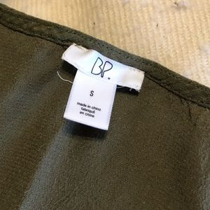 bp Tops - BP Olive Green Slightly Pleated Top